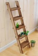 BREAブレア木製飾りはしご・ラダー5段(ダークブラウン) 【国産品】『ガーデン・ガーデニング雑貨飾りディスプレイラック』