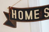 SHABBY TIN PLATE・  Home Sweet Home  ホームスイートホーム  ・TINサイン